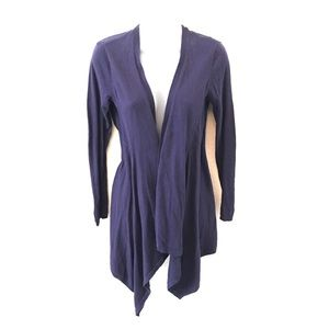 CAbi cashmere blend open waterfall navy cardigan